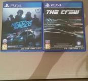 "Игры на PS4 "" Need for speed"" , ""The crew"""