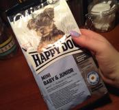 Корм Happy Dog для щенков и молодых собак