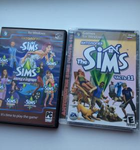 """2 игры """"Sims"""" + """"Witch"""""""