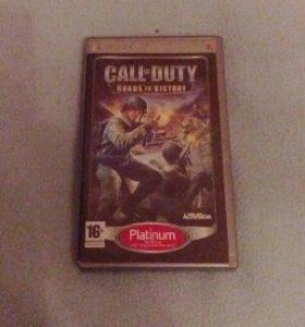 Игра call of Duty roads to victory на psp