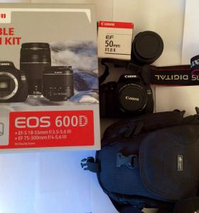 Canon 600D + kit 18-55mm, 50mm