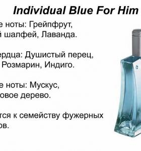 Individual blue fo him