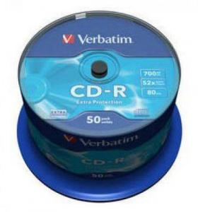 Диски CD-R Verbatim 700Mb Cake Box 50шт