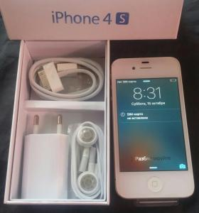 iPhone 4s/16gb white новый!