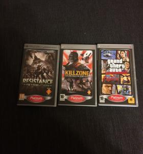 "3 игры для PSP ""Resistance, killzone, GTA liberty."