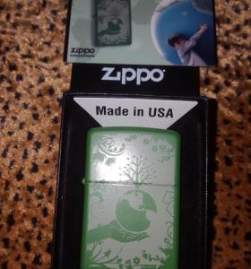 Zippo lighter peace green earth Limited Edition