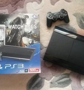 PS3 500Gb+Watch Dogs