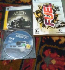 Диски игровые Fallout 3, Fuel, Need for speed