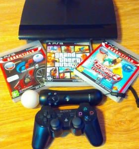 PlayStation 3+PS Move +3 игры.