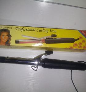 Chrome curling iron