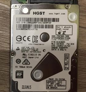 HDD HITACHI 500gb 2.5