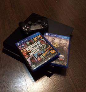 PlayStation 4 500gb РосТест+игры