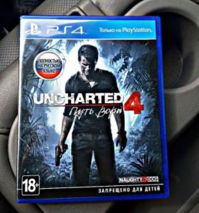 Диск на ps 4  Uncharted 4