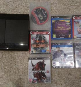 playstation 3 super slim 500gb +7 игр