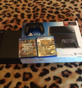 Sony PlayStation 4 (PS4) 500 гб + 2 игры