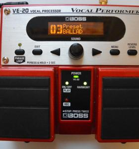 Процессор эффектов Boss VE-20 Vocal Processor