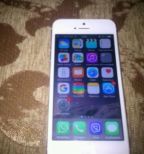 iPhone 5s, 64gb , white & silver