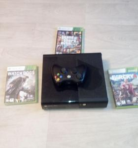 Xbox360 500gb. 3игры: Gta5, farcry4, watch_ dogs.