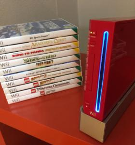 Nintendo Wii red + 3 диска