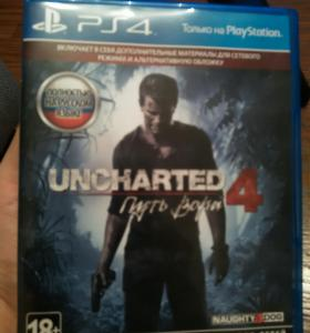 Диск Uncharted 4 для PS4