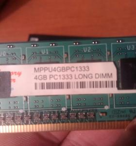 Оперативка 2 планки memory power 1333 4g DDR 3
