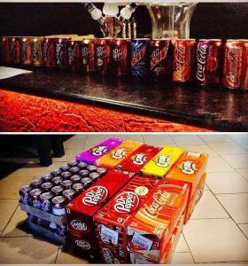 Dr.Pepper; CocaCola from USA