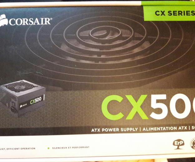 Бп corsair cx500 80 plus bronze. Фото 1.