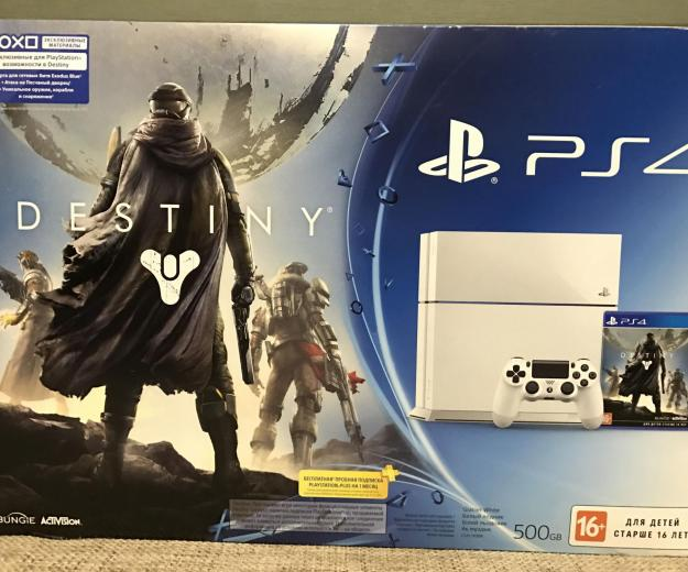 Playstation4 white +2 dualshock4+ 18 игр. Фото 2.