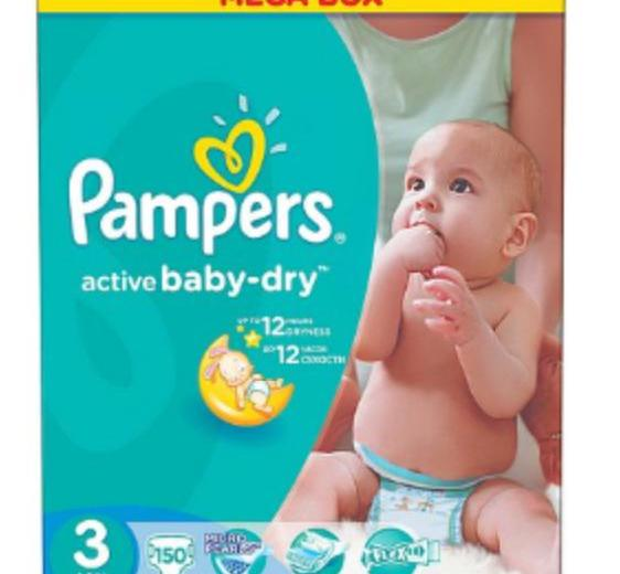 Pampers active baby-dry 3, 4. Фото 1.
