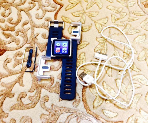 Apple ipod nano 6 (16 gb) silver + lunatik. Фото 4. Москва.