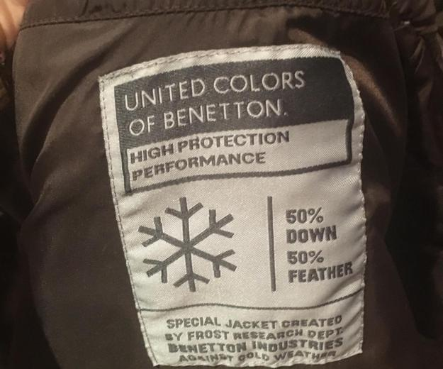 Пуховик зимний united colors of benetton  xs 40-42. Фото 4.