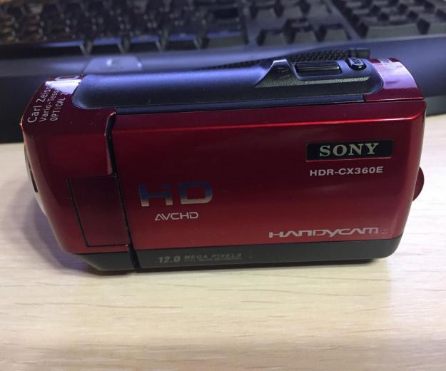 Sony hdr-cx360e red. Фото 1.