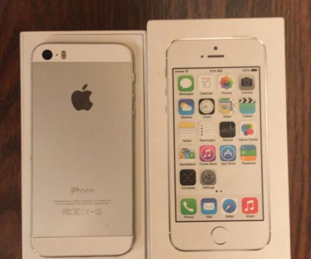Iphone 5s 16gb silver (рст) - б/у. Фото 1.