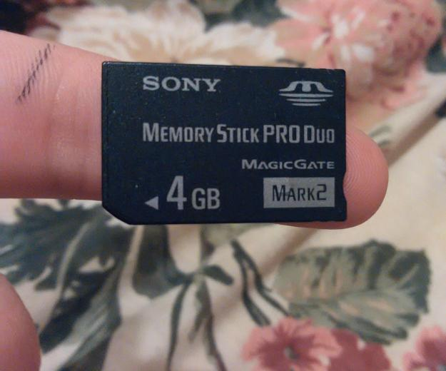 Sony memory stick pro duo 4gb. Фото 1. Москва.