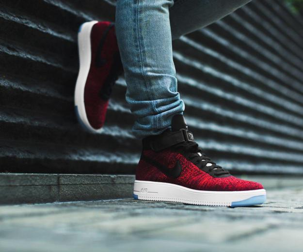 Nike air force 1 red flyknit. Фото 1. Пермь.