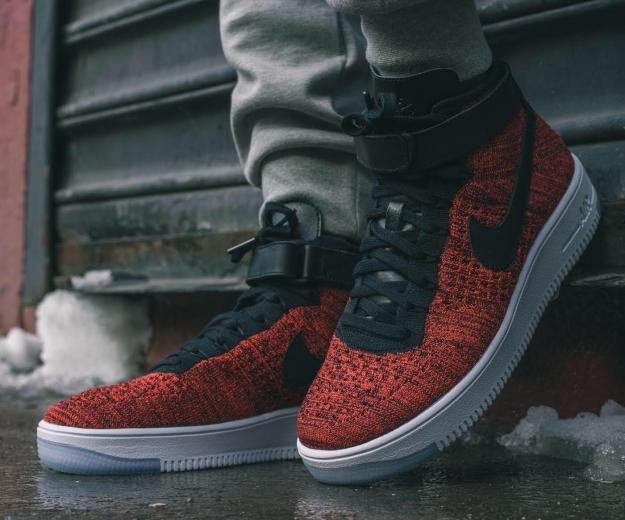 Nike air force 1 red flyknit. Фото 3. Пермь.