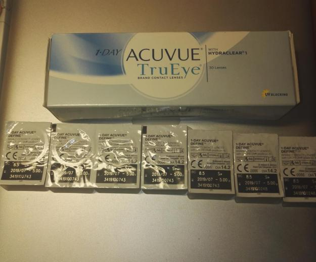 Линзы one day acuvue tru eye + define. - 5.00. Фото 2. Санкт-Петербург.